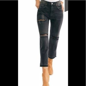 🎁NEW Free People Cropped, Straight Jeans